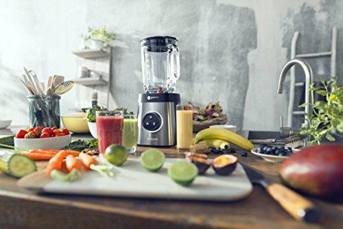 Philips HR365500 Frullatore ad Alt Velocit con Tecnologia ProBlend 6 3D e 35000 Giri al Minuto 2 Bicchieri in Tritan Inclusi 1400 W 2 Litri Vetro