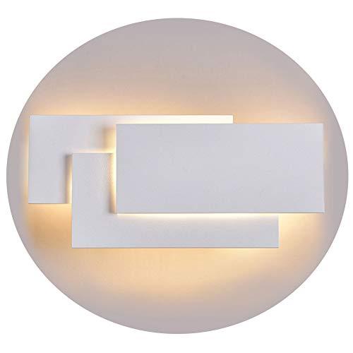 Ralbay Lampada da Parete Led 24W IP20 Applique da Parete per Interno Luce Bianca Calda Moderna Elegante per Scale Notte Corridoio Muro Soggiorno per Casa Hotel Ristorante2700K3200K