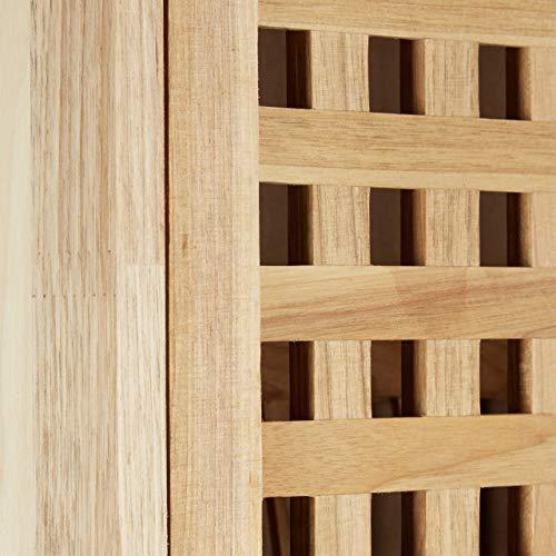 Relaxdays Scarpiera in Legno di Noce Massello 1043 X 55 X 202 cm Ideale Pure per Montaggio a Parete Naturale marrone
