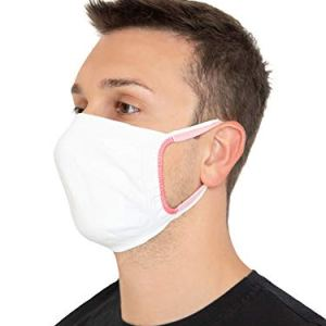 Relaxsan  SET 3 bianco Fasce viso bocca naso lavabili riutilizzabili assorbenti tessuto batteriostatico