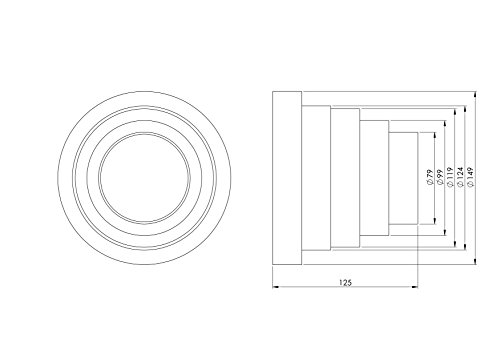 Riduttore universale per sistemi di ventilazione diametro 80150 mmRiduttore con tubo di diametro 80 100 120 125 e 150 mmTubo per condotti di ventilazione VA80