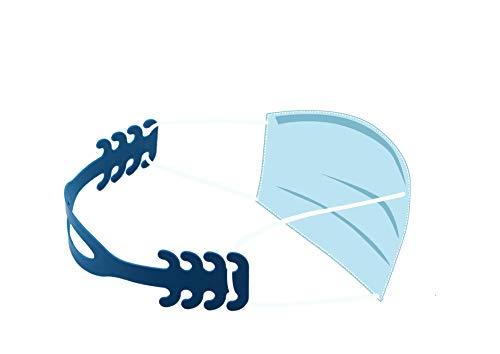 RR SHOP Reggi Mascherina  Ergonomico per Orecchie con 4 Regolazioni Adatto per Bambini e Adulti Flessibile Plastica di Mais 100 Riciclabile e Compostabile Prodotto in Italia  Set di 5