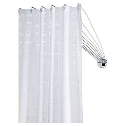 Sealskin Umbrella Binario Incurvato per Tenda da Doccia Acciaio Inox Cromato 8 x 90 x 55 cm