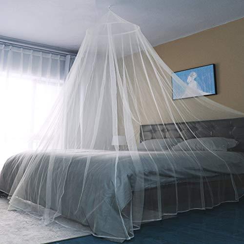 Sekey 60x250x1200cm Zanzariera per letto singolo e doppio 1 ingresso in rete con zanzariera facile e veloce da installare