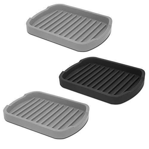 Senhai set di 3 tappetini in silicone per lavelli da cucina e bagno organizer per pulire spazzole gel doccia sapone per le mani spugne e prodotti per il viso