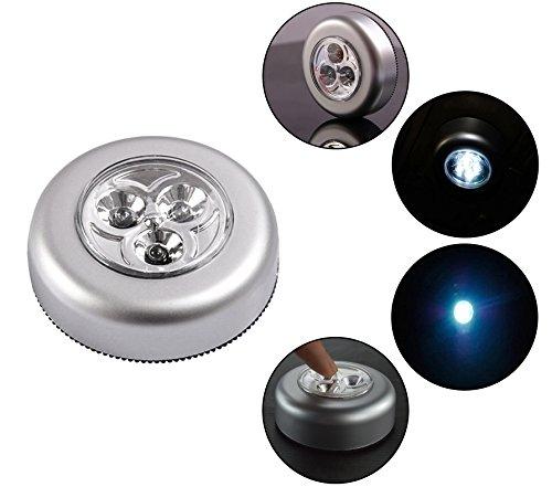 SOAIY 10PZ Luce adesiva a batteria Luci led adesive Luce notturna con 3AAA Batterie Risparmio energetico Leggerissimo per Cucina Corridoio Scale Camere per bambini Garage Luce Fredda