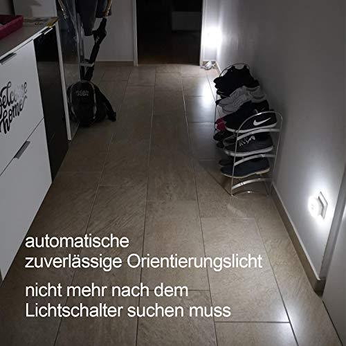 SOAIY 2 Pezzi Luce notturna led Luce Sensore di Movimento Luce da presa 3 Modalit ONOFFAUTO per bambini camera bagno soggiorno corridoio ecc Luce Fredda