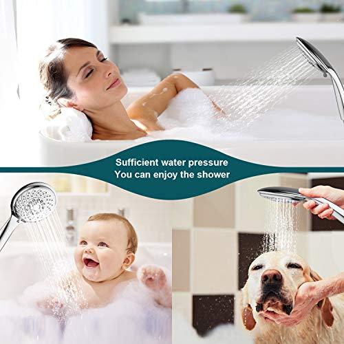 Soffione doccia Fansteck Doccetta 7 Modalit estraibile doccino per doccia anticalcare Risparmio dacqua Massaggio flessibile con materiale in resina ABS