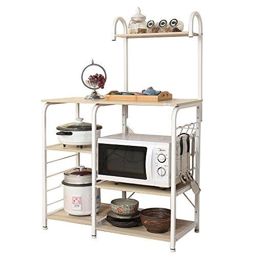 soges Microonde Scaffali Stazione di Lavoro Cucina Armadio per la Conservazione Mensola della Cucina Carrello di Servizio Maple