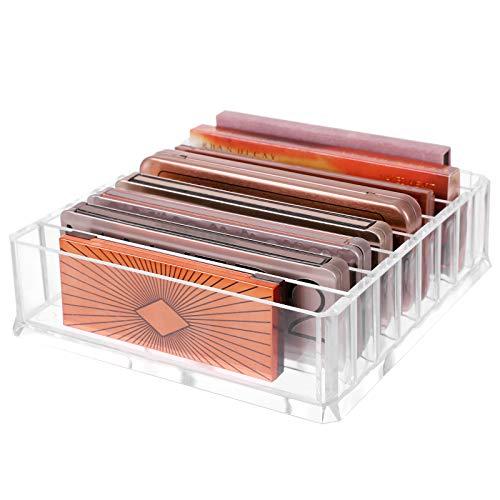 SONGMICS Portaoggetti per Cosmetici Organizzatore per Trucchi con 7 Ripiani Regolabili per Palette Ombretti Polveri Tavolo da Toletta Acrilico Trasparente JMU02TP