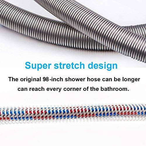 STARBATH  Tubo flessibile per doccia in acciaio INOX antinick regolabile 250 m cromato