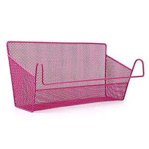 Sumnacon 1 cestino portaoggetti da appendere al comodino ideale per casa ufficio scuola dormitorio letto a castello Rosa