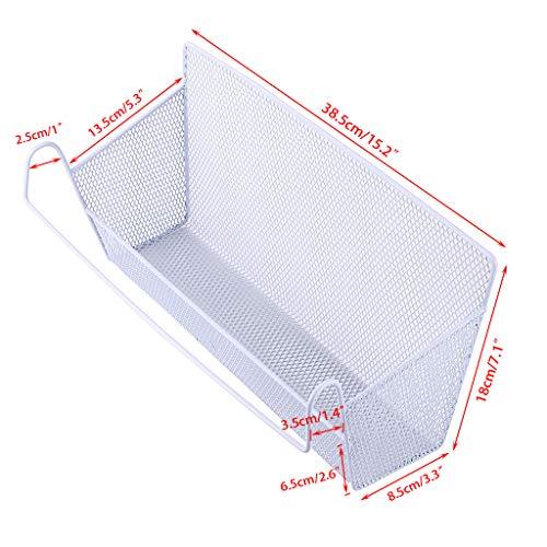 Sumnacon  cesto portaoggetti da appendere al comodino o al letto organizer da scrivania per casa ufficio scuola camera letto a castello bianco