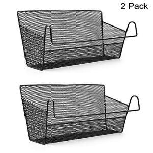 Sumnacon  cesto portaoggetti da appendere al comodino o al letto organizer da scrivania per casa ufficio scuola camera letto a castello Nero