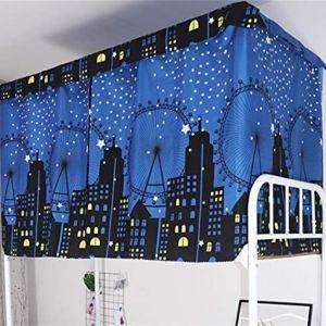 Tenda a baldacchino antipolvere per letto singolo letto a castello dormitori oscuranti zanzariere tenda per letto junior soppalco studenti dormitori dormitori e dormitori