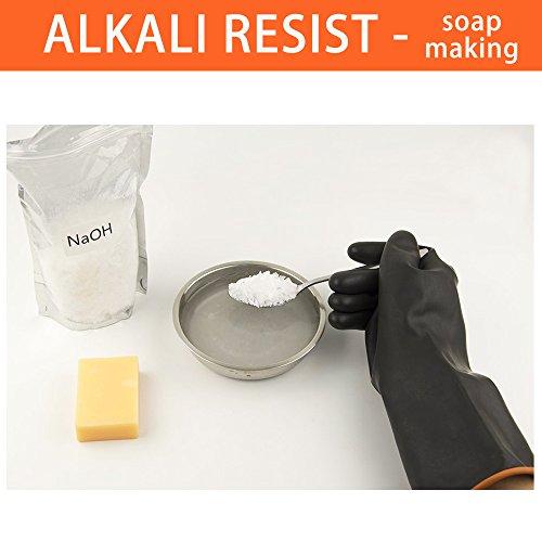 ThxToms  Resistenti guanti in lattice resistono a forti acidi alcali e olio nero