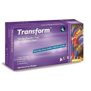 Transform  Guanti in nitrile senza polvere misura piccola confezione da 200 colore blu