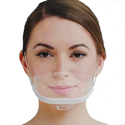 Urhome  10 Schermi Facciali In Plastica Bianca Antivirus Visiera Protettiva Virus E Batteri Mascherine Lavabili E Riutilizzabili Per Protezione Naso Bocca Anche Da Liquidi E Saliva