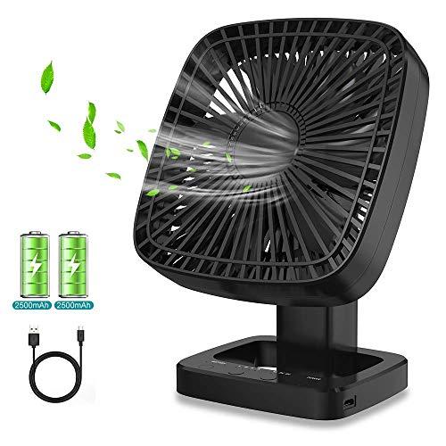 Ventilatore USB Ventilatore da Tavolo Ventilatore Portatile Rotazione a 90  per Ventilatore Regolabile a 3 velocit per Casa Ufficio