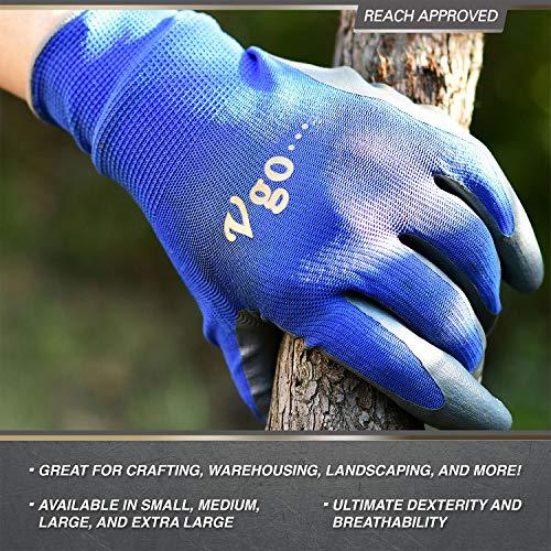 Vgo10 paia Guanti guanti da lavoro e giardinaggio in nitrile guanti da giardino edile multifunzione8M