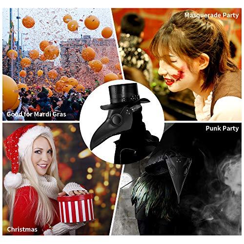 Welltop  Maschera da dottore stile steampunk gotico per cosplay marted grasso feste in maschera Natale Halloween feste in costume colore nero