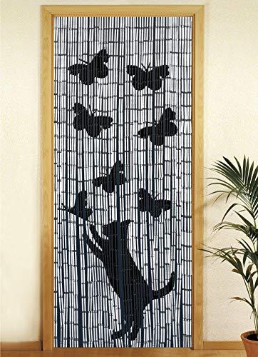 Wenko  Tenda richiudibile in Legno di bamb 90 x 200 cm Katze und Schmetterling