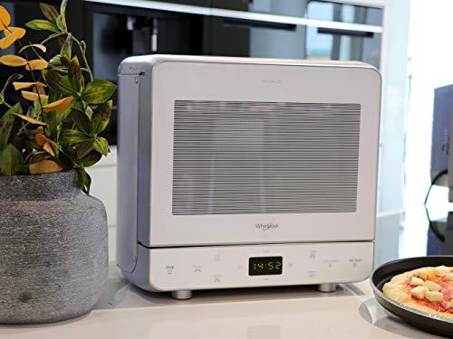 Whirlpool Max 39 WSL Forno a microonde con vaporiera funzione Griglia e DualCrisp Scongelamento rapido Maniglia integrata plastica 13 litri Argento