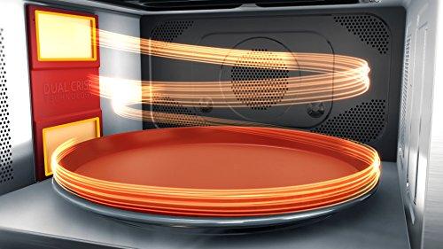 Whirlpool MWP 337 SB Forno a Microonde Supreme Chef  Grill 33 litri H 373 x L 49 x P 495 cm Nero e Argento con double steamer griglia alta piatto Crisp maniglia