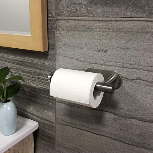 ZUNTO Porta Carta Igienica  Portarotolo Carta Igienica Adesivo per Bagno e Toilette in Acciaio Inox