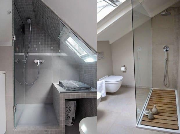 Soluzioni doccia per il bagno mansardato  Blog Arredamento