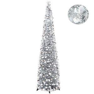 15m pieghevole treesxmas decorazione albero di Natale per piccoli spazi Silver
