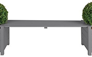 Esschert Design Banca Ponte in Legno Grigio Circa 188 cm x 40 cm x 40 cm