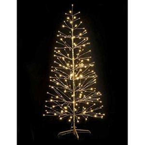 Gruppo Maruccia Albero di Natale Luminoso Effetto Dorato con 232 LED 180 Metri per Interni ed Esterni
