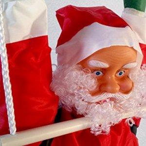 SOL60New 60cm Santa climbing Rope Ladder Outdoor Garden decorazione di Natale