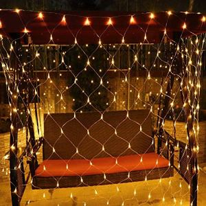 Tenda Luminos Rete di luci a LED 238 LEDs Luce Netta 3 x 2m Luci da Esterno Natalizie USB LED Natale Luci Decorative Natalizie da Esterno e Interno per Festa Matrimonio Giardino Natale