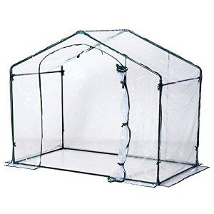 Outsunny Serra da Giardino in PVC Trasparente 180 x 105 x 165 cm