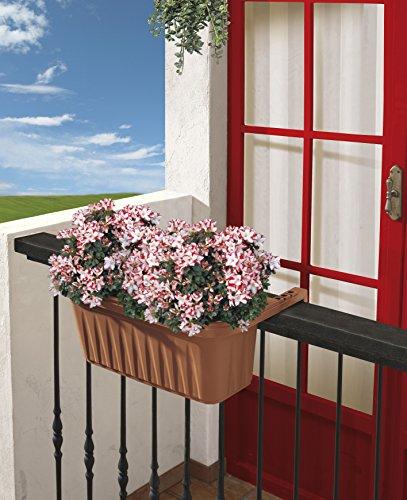Bama Fioriera Rondine di 50 cm da balcone, Terracotta