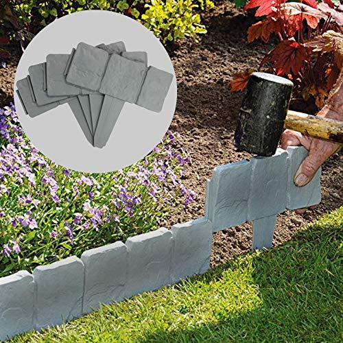 Bordi per giardini effetto pietra grigia 5 metri | Confinare con le piante