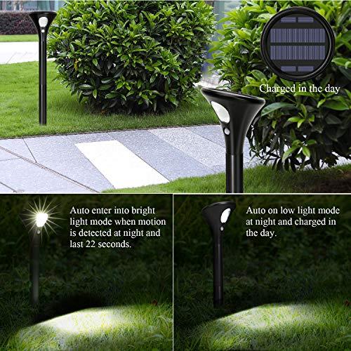 Lampada Solare Giardino con Sensore di Movimento, [2 Pezzi]