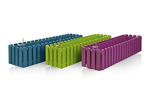 Plastkon fency Fiori autoinnaffiante, 50cm, Colore: Grigio Talpa/Nero