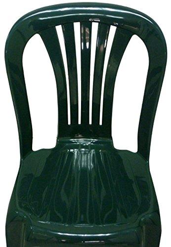 SF SAVINO FILIPPO 4 Pz Poltrona Sedia Iride in Dura Resina di plastica Verde impilabile Senza braccioli per Bar Campeggio sagra Ristorante Giardino Balcone