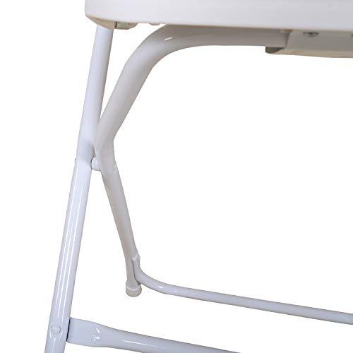 Chicreat Sedia pieghevole in plastica resistente per interni ed esterni 457 x 455 x 80 cm set da 2