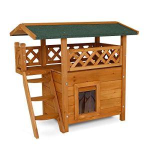 Dibea ch10810 Gatto Casa Lodge Legno 77x 50x 73cm con terrazza e Scale