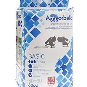 Ferribiella IGN020B Tappetini Igienici per Cani Basic 60X60 cm Bianco  300 Tappetini 6 Confezioni da 50 Pezzi