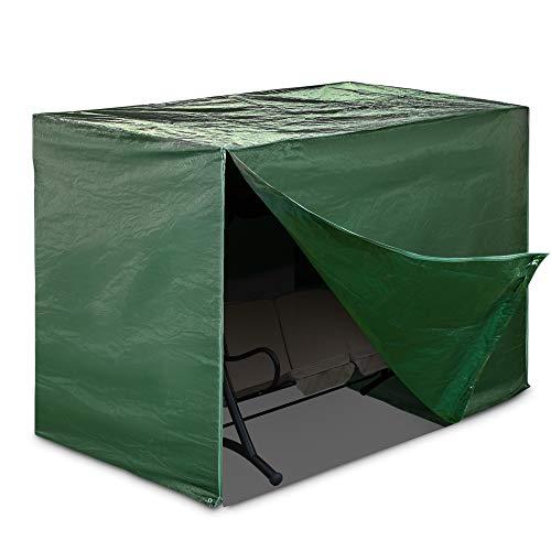 Livivo copertura protettiva resistente ed impermeabile per sedia a dondolo da giardino a 3posti con cerniere e corda