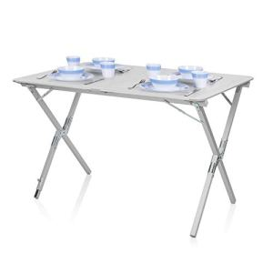 Tavolo da campeggio Campart Travel TA0802  110 x 70 cm  Alzata avvolgibile Grigio