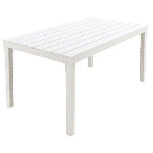 Tavolo Sumatra  01793 Colore Bianco 138 x 80 x 8 cm tessuto quadrato