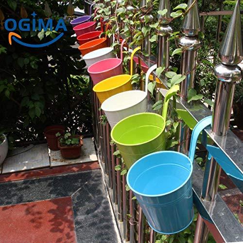 10 x Metallo Ferro Vasi Di Fiori Vaso Hanging Balcone Giardino Planter Home Decor