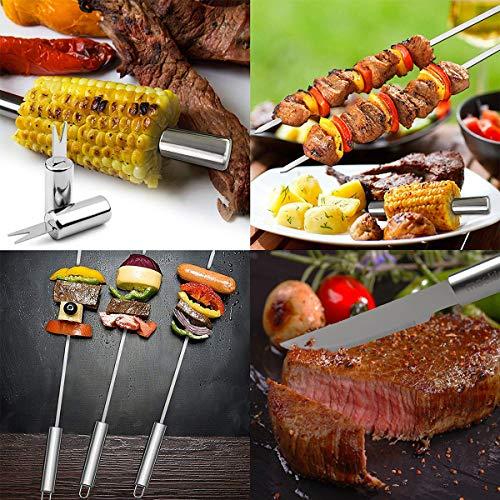 16 PCS Utensili Barbecue Utensili Barbecue in Acciaio Inox Set Barbecue per Utensili da Barbecue Regalo Perfetto per Uomini Marito o pap