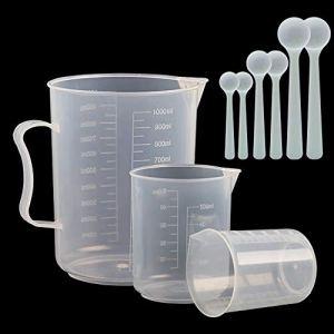 3 pezzi misurini misurini 50 ml 100 ml 1000 ml e 6 pezzi misurini 1 ml 2 ml 5 ml set di misurazione per piscina vasca idromassaggio trattamento chimico laboratori
